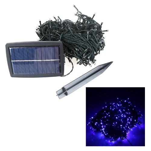500 LED Solar String Lights Christmas Wedding Party Garden Tree Decoration Fairy Blue