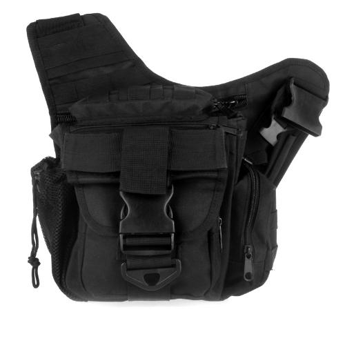Molle Tactical tracolla borsa sacchetto viaggio zaino fotocamera borsa militare nero