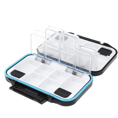 12 scomparti impermeabile deposito caso Fly Fishing Lure cucchiaio gancio esca Tackle Box nero