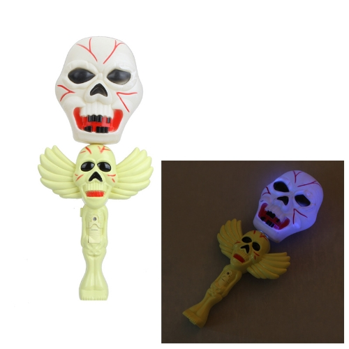 Halloween Decoration Two-Skull Flashlight with Ghosty Laughter