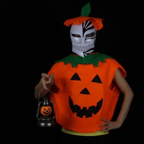 Halloween Costume Pumpkin Suit Hat Clothing for Children Kids