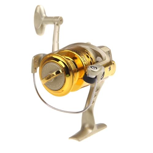 6BB Cuscinetti a sfera a sinistra / destra intercambiabile maniglia pieghevole pesca Spinning Reel SG3000 5.1: 1 Golden