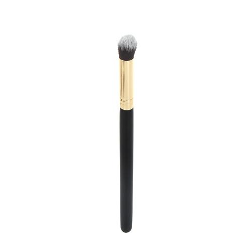 Escova cosmética profissional cara compõem o blush em pó Foundation ferramenta pequena cúpula redonda madeira + alumínio