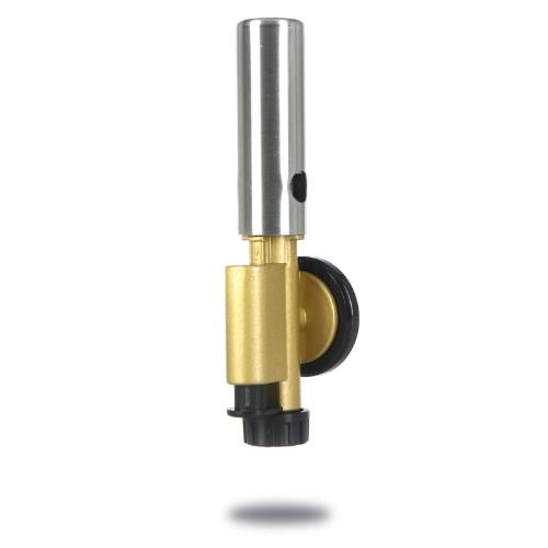 Lanzallamas portátil de cobre butano quemador llama encendedor encendido electrónico Camping herramienta de soldadura
