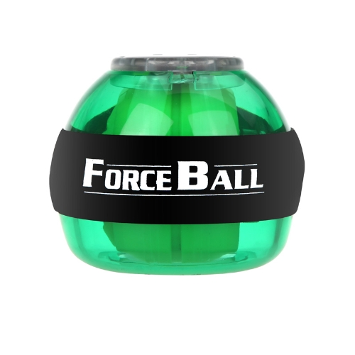 Gyroscope LED Wrist Power Force Ball Grip Ball Arm Muscle Exercise Strengthener Speed Meter Green