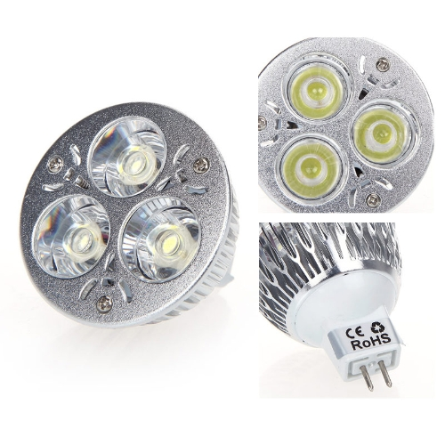 Gradable 9W MR16 blanc LED lumière Lampe Bulb 12-24V