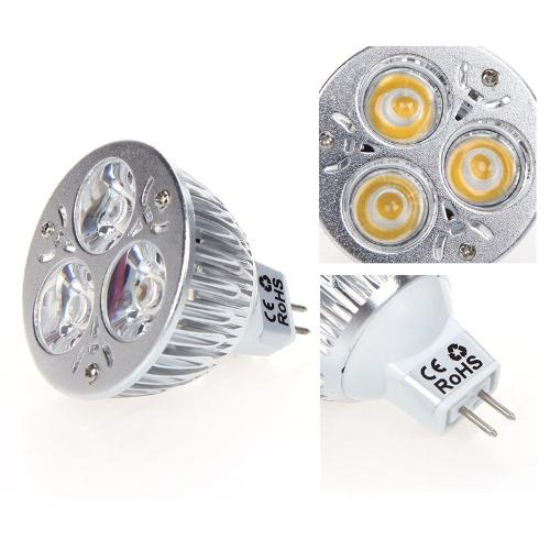Затемняемый 9W MR16 теплый белый свет Светодиодные прожектор лампа лампа 12-24V