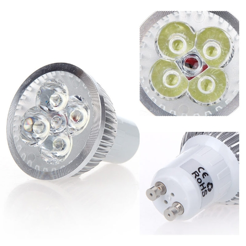 Dimmable LED Light Spotlight Lamp Bulb White 4W GU10 185-265V Energy-saving