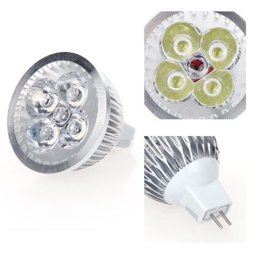 Dimmable LED Light Spotlight Lamp Bulb White 4W MR16 12-24V Energy-saving