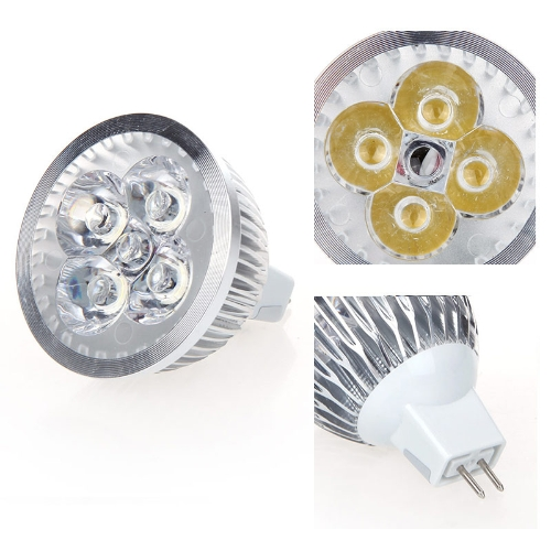 Dimmable LED Light Spotlight Lamp Bulb Warm White 4W MR16 12-24V Energy-saving