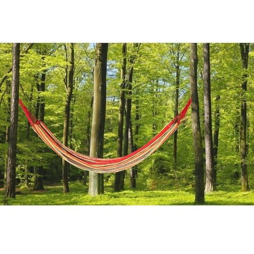 200 * 80cm amaca singola campeggio all'aperto per il tempo libero tessuto a righe in tela