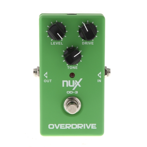 NUX OD-3 Overdrive Chitarra Effetto Elettrica Pedale Ture Bypass Verde