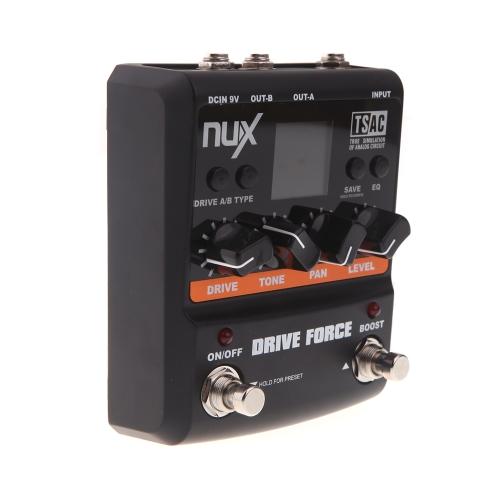 NUX Guitar Drive Force Modeling Stomp Simulator Electric  Effectors Pedals 10 Models Color Screen