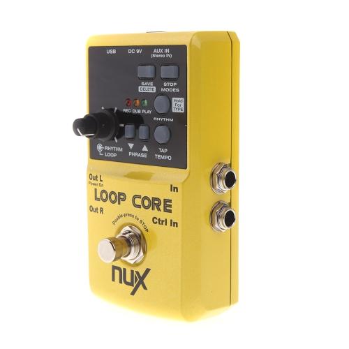 NUX петли основной гитары Электрические эффект педаль 6 часов записи время встроенный барабан узоры