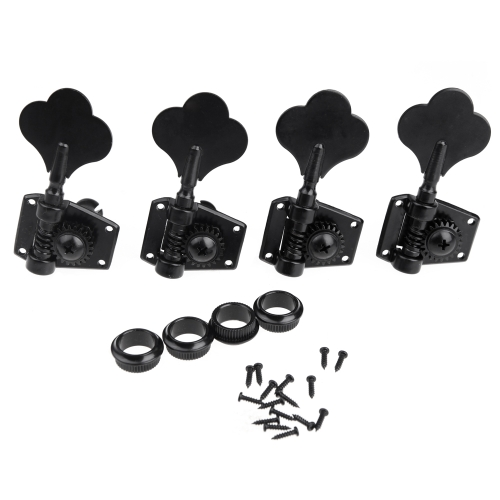 4R Black Electric Bass Tuners Machine Heads Tuning Pegs Keys Set