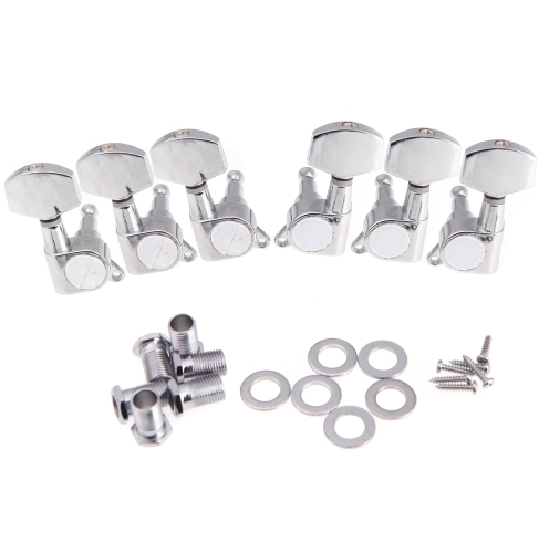 3R 3L Chrome Electric Acoustic Guitar String Tuning Pegs Tuners Machine Heads