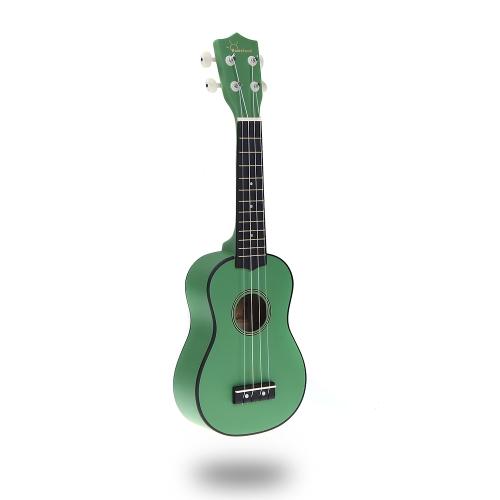 Homeland 21in Compact Ukelele Ukulele Basswood Soprano Acoustic Stringed Instrument 4 Strings Green