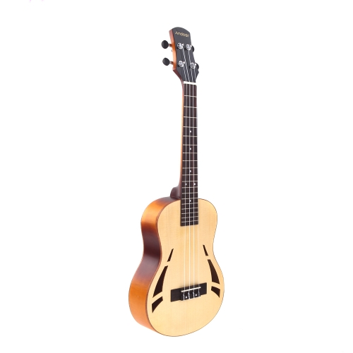 Andoer 26'' Compact Ukelele Ukulele Hawaiian Tigrina Maple Aquila Rosewood Fretboard Bridge Tenor Stringed Instrument 4 Strings with Gig Bag