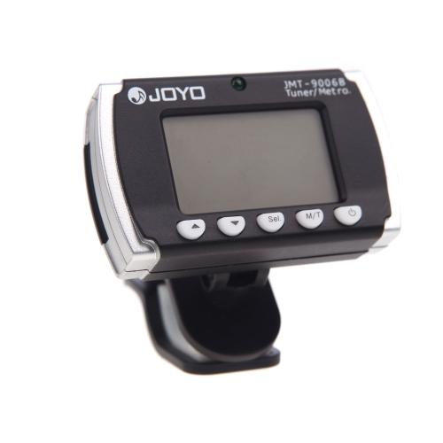 Joyo JMT 9006B Clip-on podświetlany Metronom elektroniczny tuner do gitary akustycznej chromatyczna Bass Violin Ukulele