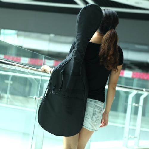 600D Water-resistant Gig Guitar Bag Shoulder Straps Pocket 5mm Cotton Padded Black for Electric Guitar