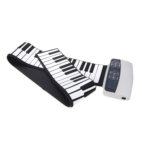88 Key Electronic Piano Keyboard Silicon Flexible Roll Up Piano MP3 Function USB Port with Sustain Pedal Loud Speaker