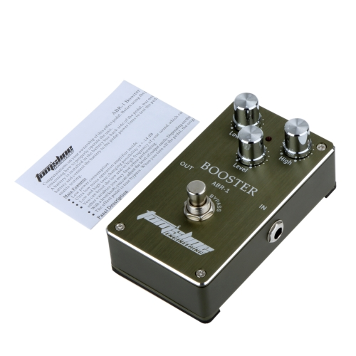 Aroma ABR-1 Booster Guitar Effect Pedal Aluminum Alloy Housing Ture Bypass