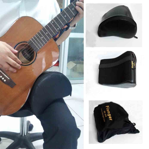 Contoured Guitar Cushion Leather Cover Built-in Sponge Soft Durable Portable