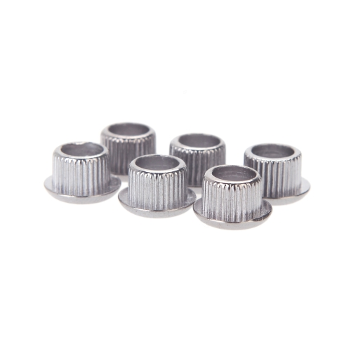 Guitar Tuner Conversion Bushings Adapter Ferrules Nickel Plating for 8mm Peghead Holes Silver