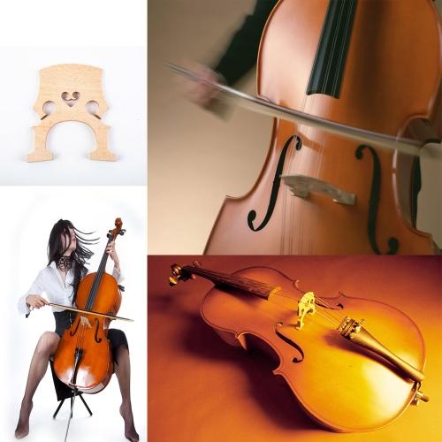 4/4 Size Cello Bridge Maple Exquisite Workmanship