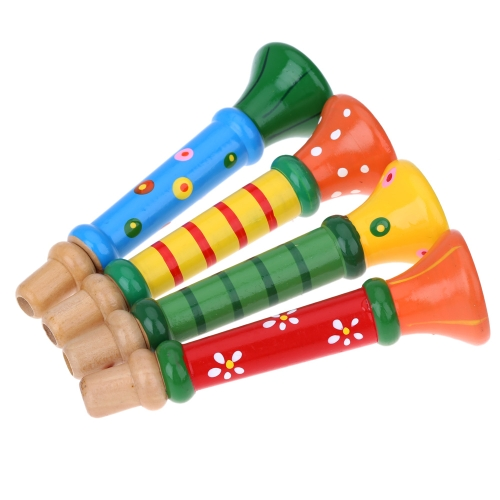 Little Trumpet Suona Horn Wooden Colorful Musical Toy for KTV Party Kids Game
