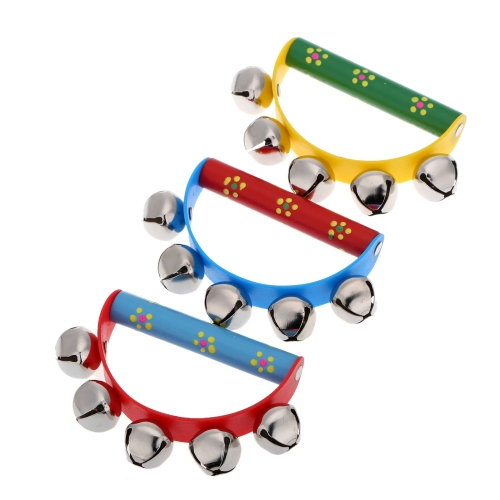 Little Hand Held Tambourine Bell Metal Jingles Ball Percussion Musical Toy for KTV Party Kids Game
