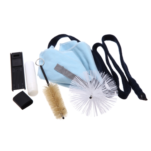 Saxophone Sax Cleaning Tool Brush Cloth Thumb Rest Cushion Reed Case Cleaning Kit