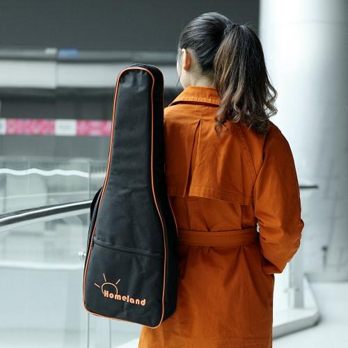 """600D Wodoodporny 26 """"27"""" Ukelele Ukulele Gig Bag Nylonowy plecak Regulowane ramiączka Ramię Pocket 5mm Bawełniane wyściełane na Tenor Ukelele"""