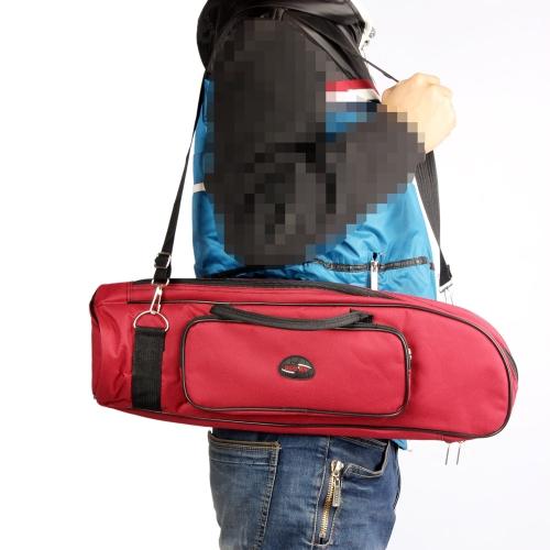 600D wasserdicht Trompete Gig Bag Oxford Tuch einzelner Schultergurt Pocket 5mm gepolsterte Baumwolle