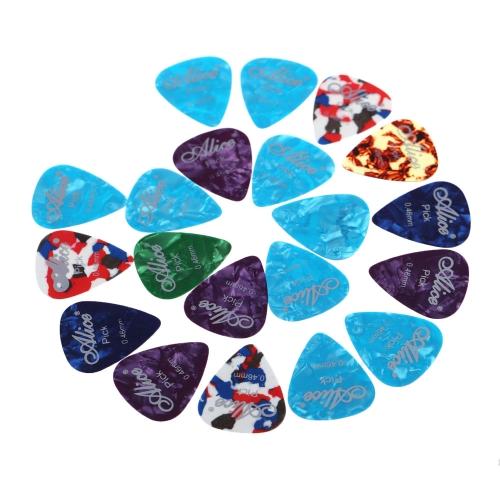 Alice AP-A 20pcs 0.46mm Guitar Picks Plectrums Celluloid