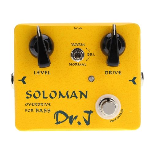 Joyo Dr.J D-52 Soloman Overdrive Bass Electric Effect Pedal Aluminum Alloy Housing True Bypass for Bass