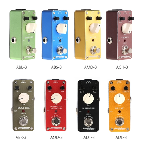 Aroma ADL-3 Mini Delay Electric Guitar Effect Pedal with Fastener Tape Aluminum Alloy Housing True Bypass
