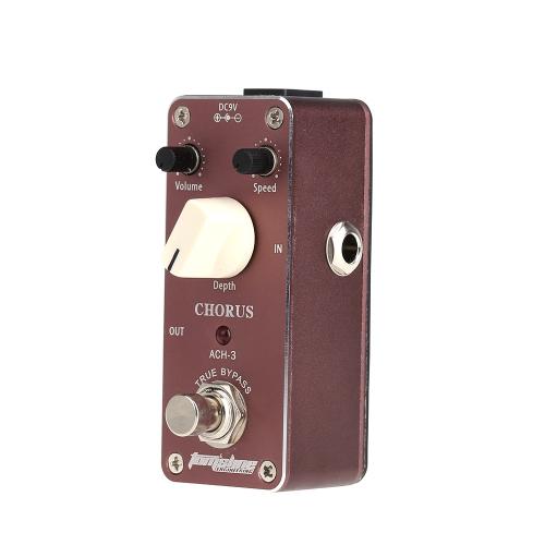 Aroma Chorus Mini ACH-3 pedale effetto per chitarra elettrica con dispositivo di fissaggio in lega di alluminio nastro alloggiamento True Bypass