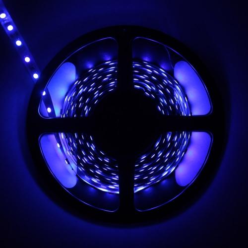 5M LED Elastyczne Światło Stripowe SMD 5050 300 Diody LED 12V 14.4W / M nie wodoodporne Niebieski Pas Światła