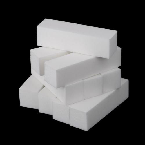 10Pcs White Buffer Block Acrylic Nail Art Care Tips Sanding Files Tool