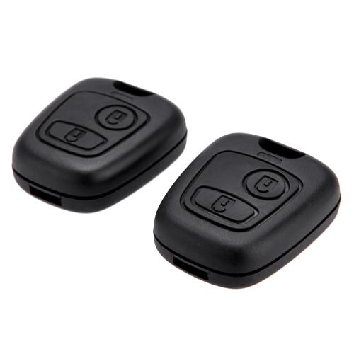 2Pcs Remote Key Case Shell For Citroen C1 C4 Peugeot 107 207 307 407 206 306 406