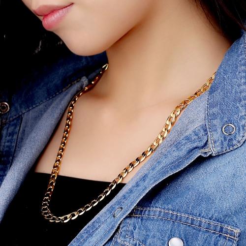 18k corrente chapeada ouro colar luxo clássico jóias presente para mulheres senhora menina