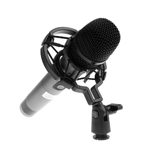 Universal Microphone Shock Mount Holder for Studio Sound Recording Black