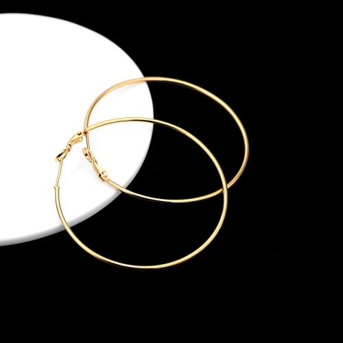 18K Gold vergoldet groß große Runde Hoop Ohrringe feine dünne Schmuck Geschenk für Mädchen, Frauen Lady