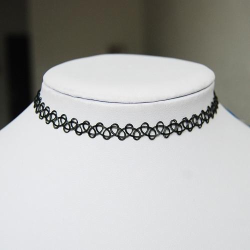 5d0ad553c8a6 Encantador estilo Vintage Tattoo gargantilla collar estiramiento nuevo negro  Retro Henna Vintage elástico