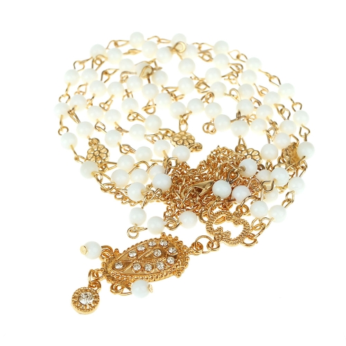 Romantische Bohemia Style Bead Head Chain Frauen Fashion Vintage Retro Crystal Stein Haar Schmuck Tropfen Anhänger Band Kopfschmuck Kopfbedeckung für Braut Hochzeit Sommerfest