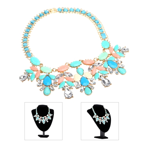Bohemio de diamantes de imitación elegante colgante clavícula cadena gargantilla collar Collar accesorio de la joyería para mujeres niñas