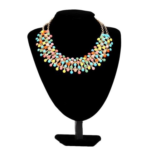 Czeski Styl Elegancki wisiorkowy Clavicle Chain Choker Naszyjnik Collar Biżuteria Akcesoria dla Kobiet Dziewcząt