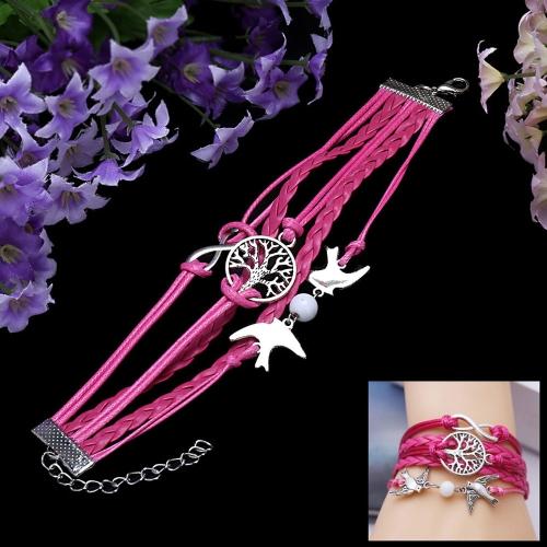 Moda Vintage joyería accesorios multicapa trenzado colgantes pulsera brazalete
