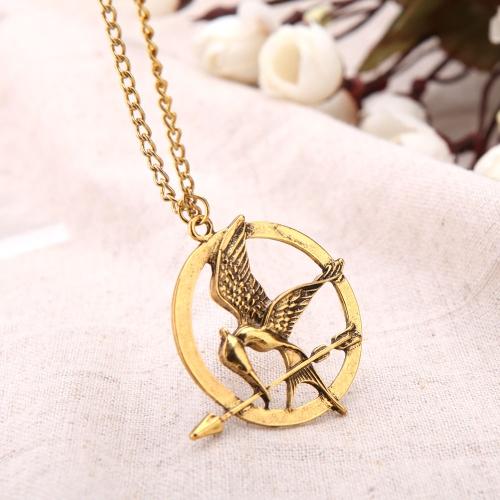 Personalizada Retro Vintage Estilo Punky Hunger Games Pájaro Colgante Collar Accesorios De La Joyería